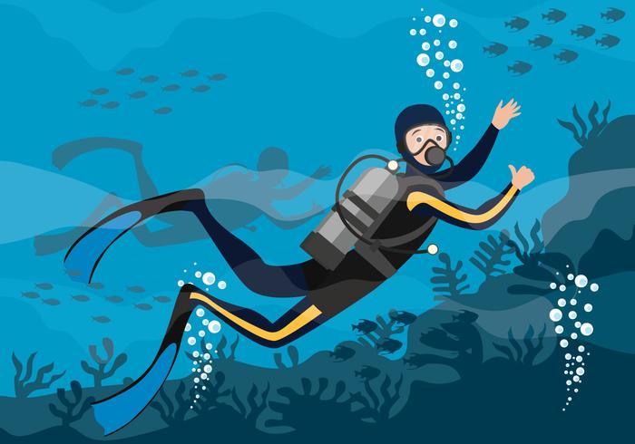 scuba-diving-vector-illustration